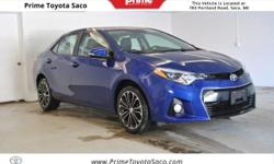CARFAX One-Owner! Toyota Certified! 2016 Toyota Corolla S Premium in Blue Crush Metallic! With these sought after options:, Leather Heated Seats, MP3- USB / I-Pod Ready, Bluetooth, Hands Free Calling,