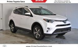 CARFAX One-Owner! Toyota Certified! 2016 Toyota RAV4 XLE in Super White! With these sought after options:, All Wheel Drive, MP3- USB / I-Pod Ready, Bluetooth, Back Up Camera, Sun Roof, Fog Lights, Pow