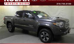 ONE Owner Per AUTO CHECK History Report, Clean Auto Check History Report, and Local Trade-in. Towing Package, TRD Sport Package (PY) (115V/400W Deck Powerpoint and Cruise Control), Tacoma TRD Sport V6