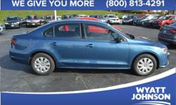 2016 Volkswagen Jetta 1.4T S In Silk. Turbo! The Wyatt Johnson Automotive Advantage! Please don't hesitate to give us a call! We value you as a customer and would love the chance to get you in this go