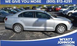 2016 Volkswagen Jetta 1.4T S In Reflex Silver. Turbo! At Wyatt Johnson Automotive, YOU'RE #1! There isn't a cleaner 2016 Volkswagen Jetta than this gas-saving ride. It gives you superb fuel economy an