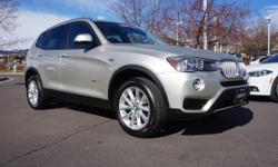 8-Speed Automatic. Don't wait another minute! In a class by itself! Want to stretch your purchasing power? Well take a look at this superb-looking 2017 BMW X3. BMW Certified Pre-Owned means you not on