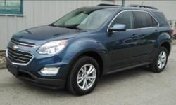 This All Wheel Drive 2017 Chevrolet Equinox was one of our Service Courtesy Cars, it has an 8 way power seat adjuster for the driver, remote vehicle start, heated front seats, a leather wrapped steeri