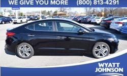 Are you interested in a truly wonderful car? Then take a look at this beautiful-looking 2017 Hyundai Elantra. It is nicely equipped with features such as * HEATED SEATS *, * LEATHER *, and 17 Alloy Wh