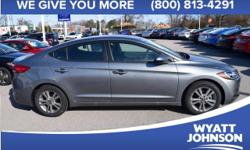 When was the last time you smiled as you turned the ignition key? Feel it again with this fantastic 2017 Hyundai Elantra. With plenty of passenger room, you won't have to worry about being cramped whe