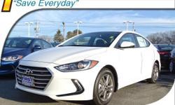 2017 Hyundai Elantra Value Edition 6 Speakers, ABS brakes, Air Conditioning, Alloy wheels, AM/FM radio: SiriusXM, Auto-dimming Rear-View mirror, Automatic temperature control, Blind Spot Sensor, Brake