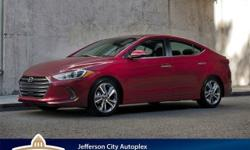$4,103 off MSRP! 2017 Hyundai Elantra SE FWD at Hyundai of Jefferson City.Red 2017 Hyundai Elantra SE 6-Speed Automatic with Shiftronic 38/29 Highway/City MPGProudly serving Jefferson City, Columbia,