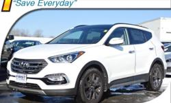 2017 Hyundai Santa Fe Sport 2.0L Turbo 12 Speakers, 4-Wheel Disc Brakes, ABS brakes, Air Conditioning, AM/FM radio: SiriusXM, Auto-dimming Rear-View mirror, Automatic temperature control, Axle Ratio 3