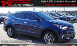 *** FREE OIL CHANGES FOR LIFE WITH PURCHASE *** Your quest for a gently used SUV is over. This outstanding-looking 2017 Hyundai Santa Fe Sport has only had one previous owner, with a great track recor