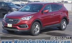 Hyundai Certified 150 Point Inspection. AWD. All the right ingredients! Come to the experts! **YOUR 1ST OIL CHANGE IS ALWAYS ON US**2017 Hyundai Santa Fe Sport 2.4 Base AWD. Be the talk of the town wh