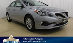 $3,817 off MSRP! 2017 Hyundai Sonata SE FWD at Hyundai of Jefferson City.Gray 2017 Hyundai Sonata SE 6-Speed Automatic with Shiftronic 36/25 Highway/City MPGProudly serving Jefferson City, Columbia, S