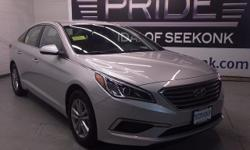 At Pride Hyundai- MA, YOU'RE #1! Talk about a deal! There isn't a nicer 2017 Hyundai Sonata than this fiery specimen we have right here. Hard to come by. It is nicely equipped. Pride Hyundai : Pride I
