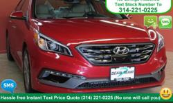 Sculpted in elegant Scarlet Red, our Hyundai Sonata Limited promises driving pleasure and so much more! Powering this sleek and modern sedan is our highly efficient 185hp 2.4 Liter 4 Cylinder. This th