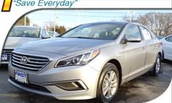 2017 Hyundai Sonata SE Gry Yes Essntls Clth, 16 x 6.5J Aluminum Alloy Wheels, 4-Wheel Disc Brakes, 6 Speakers, ABS brakes, Air Conditioning, AM/FM radio: SiriusXM, Brake assist, Bumpers: body-color, C