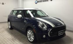 Heated Seats, All Wheel Drive, Turbo, Bluetooth, iPod/MP3 Input, WHITE ROOF & MIRROR CAPS. Cooper ALL4 trim, MINI Yours Lapisluxury Blue exterior and Carbon Black Leatherette interior. FUEL EFFICIENT