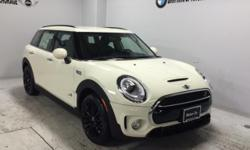 Heated Seats, All Wheel Drive, Turbo Charged, Bluetooth, iPod/MP3 Input, ROOF RAILS, ALL-SEASON TIRES, COLD WEATHER PACKAGE, Alloy Wheels. Cooper S ALL4 trim, Pepper White exterior and Carbon Black Le