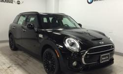 Heated Seats, iPod/MP3 Input, Bluetooth, All Wheel Drive, ALL-SEASON TIRES, ROOF RAILS, LED HEADLIGHTS. EPA 30 MPG Hwy/21 MPG City! Cooper S ALL4 trim, Midnight Black metallic exterior and Carbon Blac