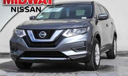 2017 Nissan Rogue S AWD. 32/25 Highway/City MPGAwards:  * 2017 IIHS Top Safety Pick+  Options:  4 Speakers|Am/Fm Radio: Siriusxm|Cd Player|Mp3 Decoder|Radio Data System|Radio: Am/Fm/Cd/Aux|Air Conditi