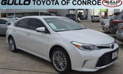 White 2017 Toyota Avalon Limited 30/21 Highway/City MPGAwards:  * 2017 IIHS Top Safety PickLet the team at Gullo Toyota introduce you to an entirely new kind of car-buying experience. You will love do
