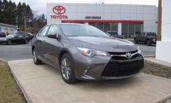 2017 TOYOTA CAMRY SE!! LOW MILEAGE, TOYOTA CERTIFIED 7 YEARS/100,000 MILES, TOUCH SCREEN AUDIO, BLUETOOTH, USB, TILT STEERING WITH AUDIO CONTROLS, BACK UP CAMERA, 17 ALLOY WHEELS, rear decklid spoiler