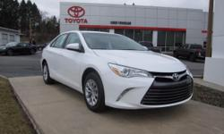 2017 TOYOTA CAMRY LE!! TOYOTA CERTIFIED 7 YEARS/100,000 MILES, TOUCH SCREEN AUDIO, BLUETOOTH, USB, TILT STEERING WITH AUDIO CONTROLS, BACK UP CAMERA, 16 steel wheels, power door mirrors, KEYLESS ENTRY