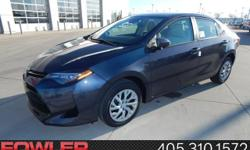 All the right ingredients! Come to the experts! Be the talk of the town when you roll down the street in this attractive 2017 Toyota Corolla. The quality of this superb Corolla is sure to make it a favorite among our educated buyers. FOWLER ELITE PROGRAM: