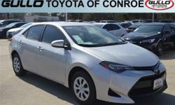 Silver 2017 Toyota Corolla L 36/28 Highway/City MPGAwards:  * 2017 IIHS Top Safety Pick+Let the team at Gullo Toyota introduce you to an entirely new kind of car-buying experience. You will love doing business with us no matter where you live! If youre