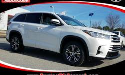 KICK OFF THE NEW YEAR WITH A NEW CAR!!! Open 7 Days A Week!!! 4 Years of Complimentary Maintenance!!! We Want Your Business!!! 2017 Toyota Highlander LE Blizzard Pearl ABS brakes, Active Cruise Contro