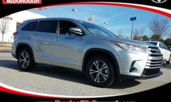 KICK OFF THE NEW YEAR WITH A NEW CAR!!! Open 7 Days A Week!!! 4 Years of Complimentary Maintenance!!! We Want Your Business!!! 2017 Toyota Highlander LE Celestial Silver Metallic ABS brakes, Active Cr