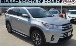 Silver 2017 Toyota Highlander XLE 27/21 Highway/City MPGAwards:  * 2017 IIHS Top Safety Pick+Let the team at Gullo Toyota introduce you to an entirely new kind of car-buying experience. You will love