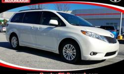 KICK OFF THE NEW YEAR WITH A NEW CAR!!! Open 7 Days A Week!!! 4 Years of Complimentary Maintenance!!! We Want Your Business!!! 2017 Toyota Sienna XLE 8 Passenger Blizzard Pearl ABS brakes, Bumpers: bo