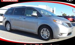 Just Reduced! Open 7 Days A week!!! 0% FINANCING AVAILABLE!!! WE WANT YOUR BUSINESS!!! 2017 Toyota Sienna XLE 8 Passenger Silver Sky Metallic ABS brakes, Alloy wheels, Auto-dimming Rear-View mirror, B