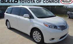 White 2017 Toyota Sienna Limited 27/19 Highway/City MPGLet the team at Gullo Toyota introduce you to an entirely new kind of car-buying experience. You will love doing business with us no matter where