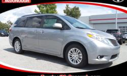 Open 7 Days A week!!! 0% FINANCING AVAILABLE!!! WE WANT YOUR BUSINESS!!! 2017 Toyota Sienna XLE 8 Passenger Silver Sky Metallic ABS brakes, Alloy wheels, Auto-dimming Rear-View mirror, Bumpers: body-c