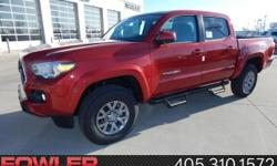 Red and Ready! Come to the experts! Be the talk of the town when you roll down the street in this fantastic-looking 2017 Toyota Tacoma. This wonderful Toyota Tacoma is just waiting to bring the right