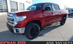 All the right ingredients! Red and Ready! Be the talk of the town when you roll down the street in this good-looking 2017 Toyota Tundra. This Tundra engine never skips a beat. It's nice being able to
