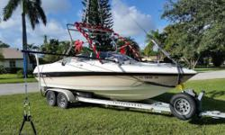 Please call owner Matt at . Boat is in Delray Beach, Florida. Unique Multi-Use Family Boat. Wakeboard/Surf, Barefoot, Kneeboard, Tube, Dive, Snorkel, Fish, Cruise. $8,450 OBO - new boats here, shes gotta go! 21 1994 Wellcraft Eclipse 210S open bow