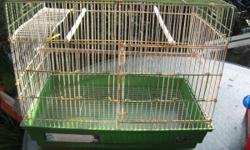Great cage for cockatiels, lovebirds, finches, small conure/parrot. It has a little rust, but nothing that will hurt anything. Would be a great cage for a breeding pair. CASH ONLY!!!!! If interested: