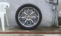 305 / 40 / 22 with chrome kmc rims must sell fits most 6 lugs they came off my Silverado