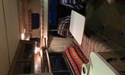 What we have is a 1982 Motorhome it will sleep 4 two on top and the couch folds out for two. The frig and freezer are about 4 yrs old and work Perfect, the stove top works but the oven does not has a