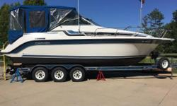 Please call boat owner Dennis at 216-402-4366. Boat is in Chesterland, Ohio. Make an offer.Comes with a Custom Haul Triaxle Boat Trailer. This boat has been well maintained, the engine compartment is
