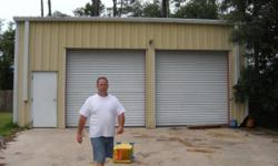 Descripción 35 wide x 25 deep 15 ft high metal storage building 2 large roll up doors long concrete driveway convenient location - next to I-10 38131 Tammany Street,Slidell, La. 70458 985-789-0748 michael cell 500 whole space or partial is available