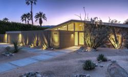 A fully upgraded and authentic William Krisel Mid-Century Modern in Rancho Mirage with a wall of glass between the living and pool areas and many clerestories. Spacious and light, the post and beam co