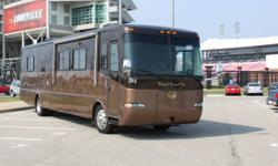 38' Monaco Socialite RV, Seats 20 Passengers has full slide out, Restroom, Kitchen, Microwave, front and rear lounge surround sound flat screen tv's.  Available for daily, or weekly rental. This is gr