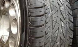 Good set of 4 Ford oem 10 hole 5.0 wheels. They might use a cleaning but are really good. they have 225/60/R15 on 2 of them. They are the 4-lug Ford frequently seen on the fox body Fords and Mercury C