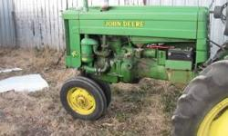 For sale I have a nice antique 40 John Deere tractor. this tractor has the tricycle front end 3pt. and fenders. It runs great looks good and has good tires. I am asking $3000 for it and for more infor