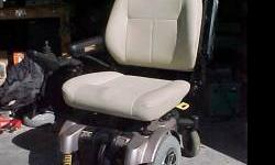 """In perfect condition... Pride Vanguard """", Heavy Duty, bariatric Power Mobility Wheelchair w/ extra wide seat and drive wheels. It was purchased a few months ago, for an individual that never used it."""