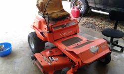 Good lawn mower we just don't need . Runs and cuts . Has new drive belt , ignition , pto switch , fuel pump , fuel line and filter . could use a little tlc like one of the tires leaks down . Call text