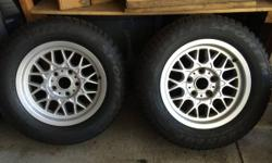 "A pair of near exceptional condition BMW 15"" BBS Alloys w/premium Dunlop Winter Sport tires for 1995-2003 BMW 5 series. These were off my 528i. 225/60/R15. An outright MUST for any rear wheel drive BM"