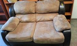 Micofiber and Leather couch and loveseat ,clean ,comfortable and in terrific condition. For more information please call 717-9438 or text Or stop in and take a look 10am-7pm. everyday. Located at 4O9